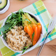 Healthy Detox Dinner with Quinoa, Carrots, Avocado and Rocket sa - PhotoDune Item for Sale