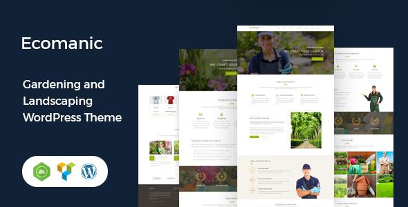 Ecomanic - Gardening and Landscaping WordPress Theme