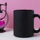 Coffee mug mockup with black metal candle lantern - PhotoDune Item for Sale