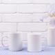 Two coffee mug mockup with iris flowers - PhotoDune Item for Sale