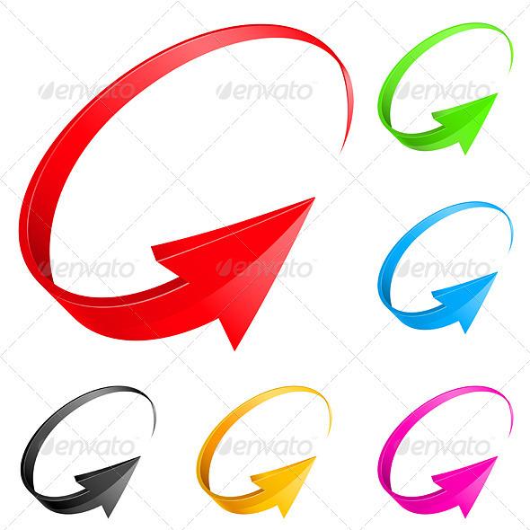 Colorful arrows - Decorative Symbols Decorative