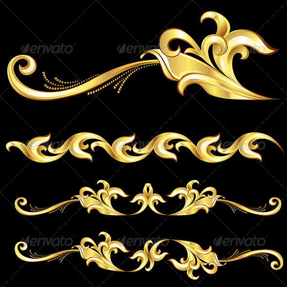 Abstract Gold Frame.  - Borders Decorative