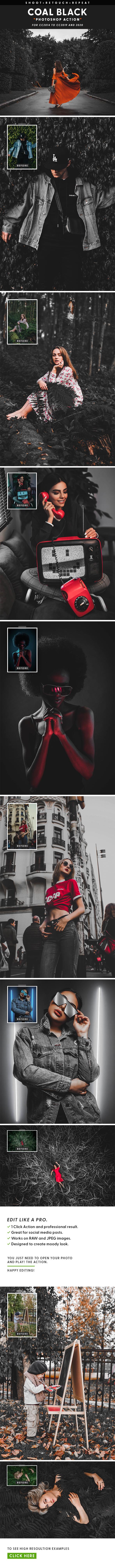 COAL BLACK - Photoshop Action
