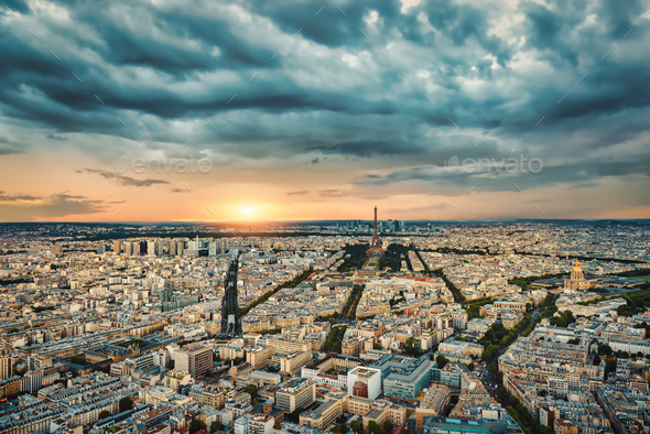 Bad weather in Paris - Stock Photo - Images