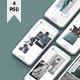 White / Clay Phone Mockup + InstaStory UI