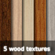 5 Wood Textures - GraphicRiver Item for Sale