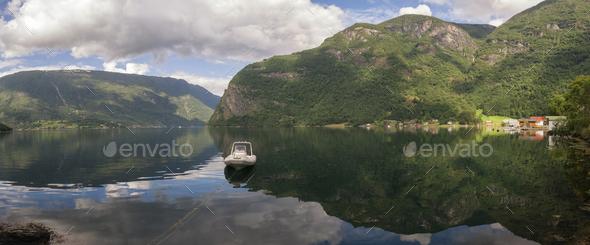 Arnefjorden in Norway - Stock Photo - Images