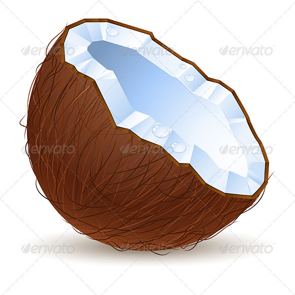 Half a coconut - Food Objects
