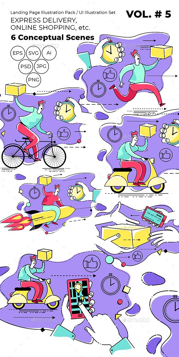 Illustration for Express Delivery