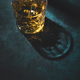 Contemporary still life with whiskey, scotch or bourbon glass with ice - PhotoDune Item for Sale