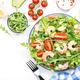 Fresh shrimp salad with tomatoes, lettuce, arugula, avocado, cucumber and lemon dressing - PhotoDune Item for Sale