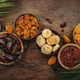 Healthy food snack: dried fruits, natural sun dried organic mix of dried apricots, figs, raisins - PhotoDune Item for Sale
