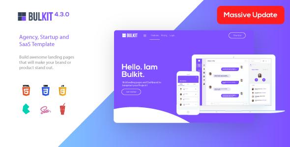 Great Bulkit - Saas Landing Pages