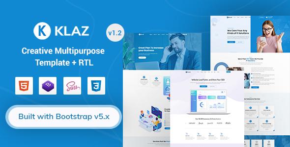 Klaz - Creative Multi-Purpose HTML Template