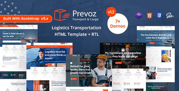 Wondrous Prevoz - Transport & Logistics HTML Template