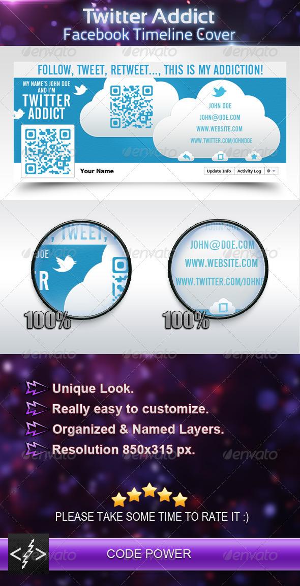 Twitter Addict - Facebook Timeline Cover - Facebook Timeline Covers Social Media