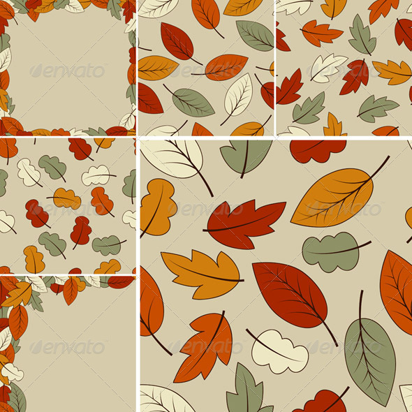 Autumn Vector Set - Patterns Decorative