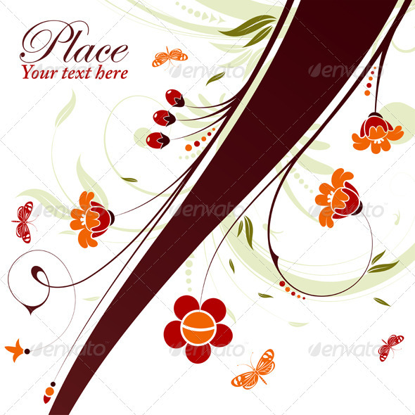 Floral decoration - Flourishes / Swirls Decorative