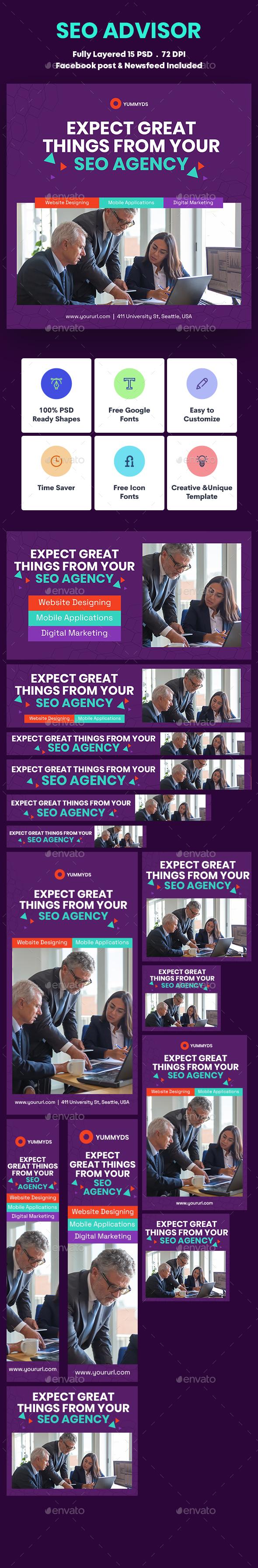 SEO Advisor Banners Ad