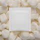 Blank white paper sachet pack on sugar cubes. 3D rendering and photo. - PhotoDune Item for Sale