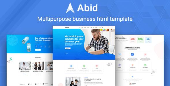 Abid – Multipurpose business HTML template