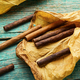 Group cigars and tobacco leaves - PhotoDune Item for Sale