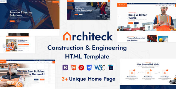 Architeck – Construction HTML5 Template