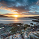 Stunning sunset across the sands at low tide at Luskentyre - PhotoDune Item for Sale