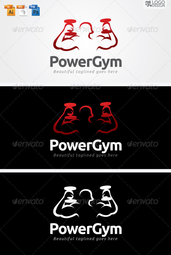 Power Gym - Humans Logo Templates