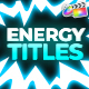 Energy Titles Pack | FCPX - VideoHive Item for Sale