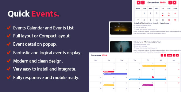 Download Quick Events For PHP Free Nulled