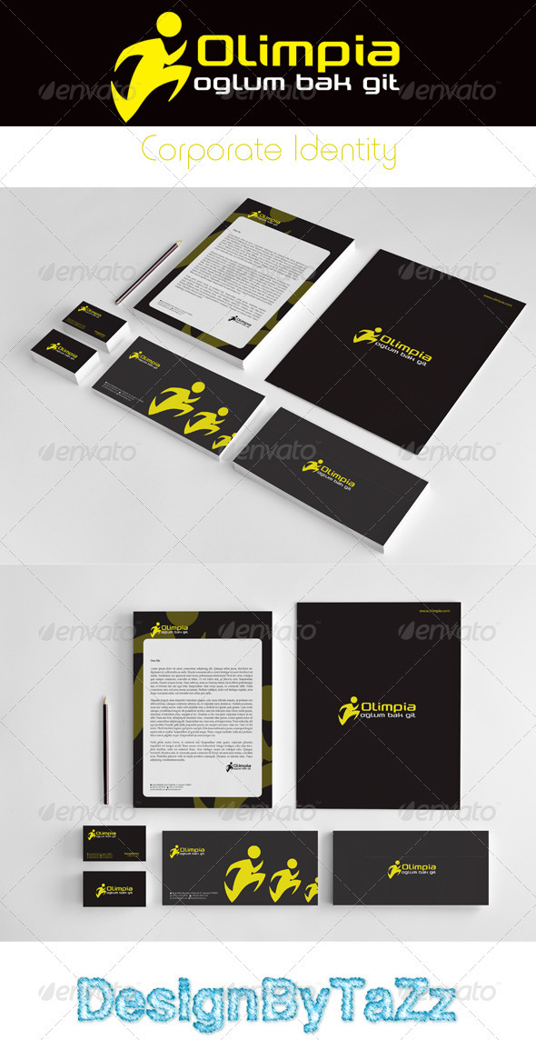 Olimpia Corporate Identity Package - Stationery Print Templates