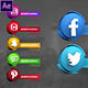 Social Media 3D Lowerthirds - VideoHive Item for Sale