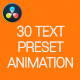 30 Text Preset - VideoHive Item for Sale