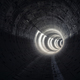 The dark subway tunnel - PhotoDune Item for Sale