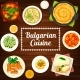 Vegetable and Meat Food Dishes Bulgarian Cuisine