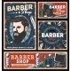 Barbershop Posters with Poles Hairdresser Razors