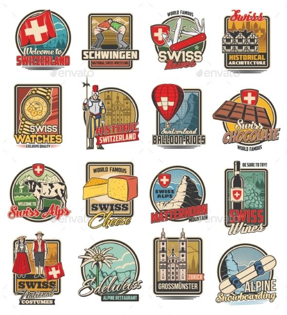 Switzerland Travel Swiss Icons of Chocolate Alps