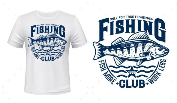 Seaking Perch Fish Tshirt Print