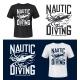 Squid Print Tshirt Mockup Sea Ocean Diving Club