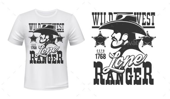Ranger Tshirt Print Mockup Wild West Cowboy