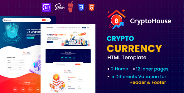 CryptoHouse – Minimal & Professional Crypto Currency HTML Template