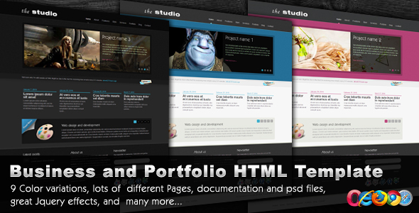 Free Download The Studio - 9 in 1 - Portfolio/Business Template Nulled Latest Version