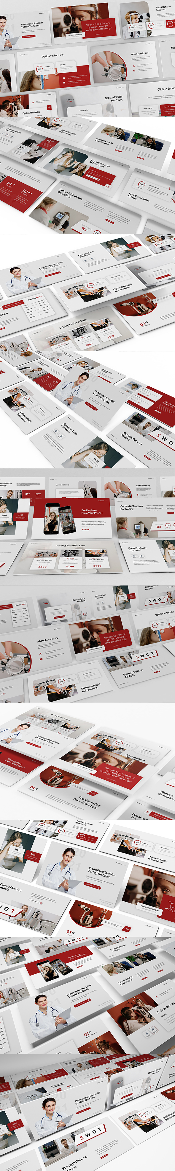 Optician Specialist Google Slides Presentation Template