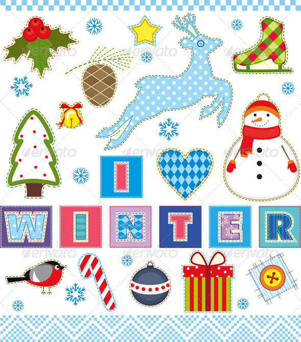 Winter Set Textile Element - Seasons/Holidays Conceptual