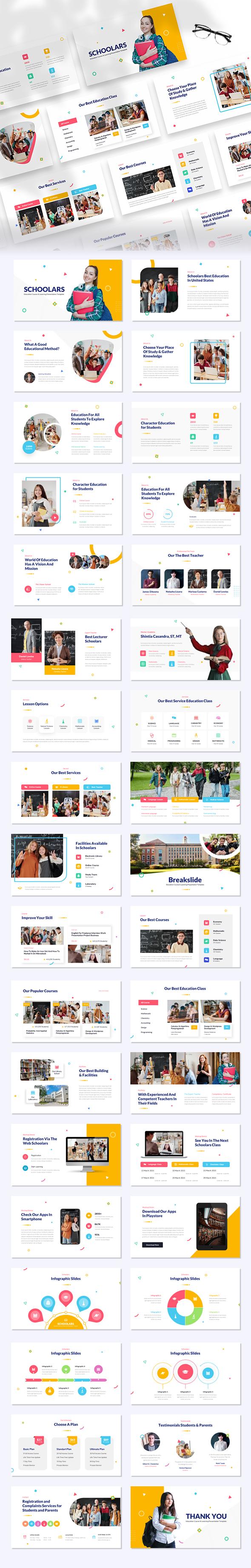 Schoolars – Education Course & Learning Google Slides Template