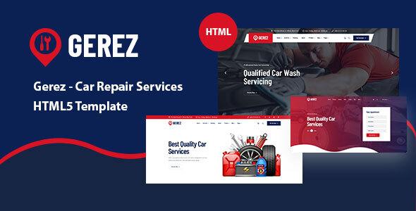 Gerez – Car Repair Services HTML5 Template