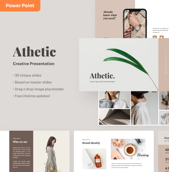 Athetic - Creative Power Point Presentation