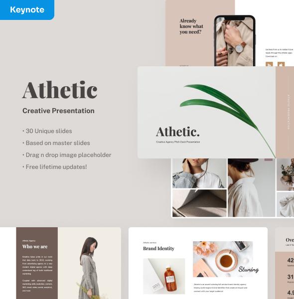 Athetic - Creative Keynote Presentation