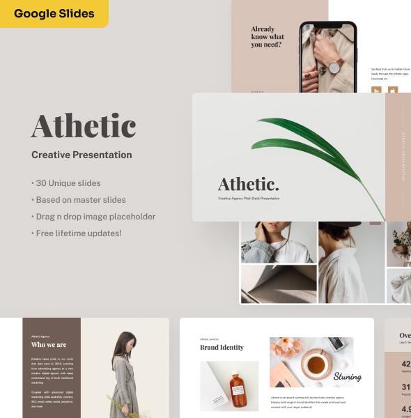 Athetic - Creative Google Slides Presentation
